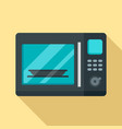 electric microwave icon flat style vector image