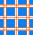 fabric texture in a square pattern seamless blue vector image vector image