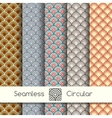 Five seamless circular patterns vector image