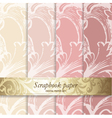 Floral Pattern Scrapbook Paper vector image vector image