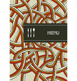 Fork knife and spoon vintage menu cover design vector image