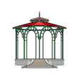 gazebo with red roof vector image