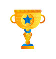 golden trophy cup on a white vector image