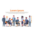 group of business people working brainstorming vector image vector image