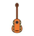 guitar instrument design vector image vector image