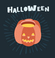 halloween pumpkin icon isolated vector image