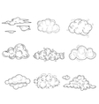 Hand Drawn Cloud Set vector image