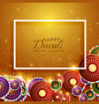 happy diwali background with festival crackers vector image vector image