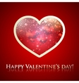happy valentines day holiday background with heart vector image