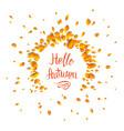 hello fall card vector image vector image