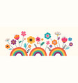 hello summer banner design with flowers and vector image vector image