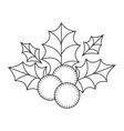 holly berry christmas decoration vector image vector image