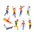 home workout active people making sport exercises vector image vector image