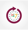 icon watch timetable 24 hours vector image