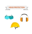 Industrial protective workwear head protection vector image vector image