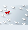 leadership concept design paper plane vector image