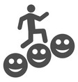 man steps smile levels flat icon vector image vector image
