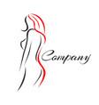 modern woman logo vector image vector image