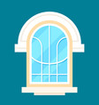 old style decoration window in flat design vector image