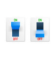 on off switch button ui isolated white background vector image vector image