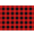 plaid seamless pattern design red and black vector image