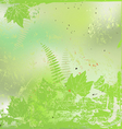 Plants and leaves background vector image vector image