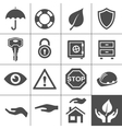 Protection icons Simplus series vector image vector image
