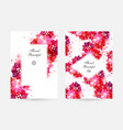 romantic background with red and pink flowers vector image vector image