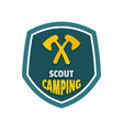 scout camping logo flat style vector image vector image