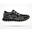Silhouette symbol of Shoes running and fitness vector image vector image