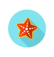 Starfish flat icon with long shadow vector image vector image