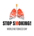 stop smoking world no tobacco day isolated icons vector image vector image