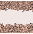 Style Waves Abstract Hand-Drawn Pattern Background vector image