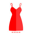 sundress combination or nightie icon vector image vector image