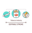tobacco industry concept icon nicotine-containing vector image vector image