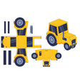 tractor paper cut toy farm agricultural machine vector image vector image