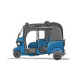 tuktuk motorbike asian taxi sketch for your vector image