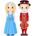 UK Boy and Girl vector image