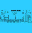 united states tampa winter holidays skyline vector image vector image