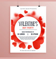 valentines day invitation flyer template design vector image vector image
