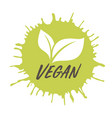 vegan iconink with stamp effect vector image