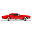 vintage coupe car vector image