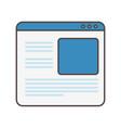 website data social media icon vector image
