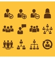 The management icon set of 12 icons Team and vector image