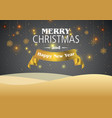 christmas background in gold vector image