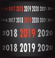 2019 new year counter christmas congratulation vector image vector image