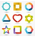 Abstract creative signs and symbols set Logo vector image vector image