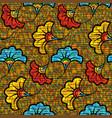 african wax print fabric ethnic wedding flowers vector image vector image