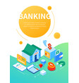 banking and investment - modern colorful isometric vector image