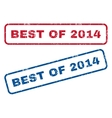 Best Of 2014 Rubber Stamps vector image vector image